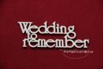 Wedding to rememer zestaw słów