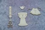 Chrzest - Paschał, Chrzcielnica, szatka, gołębica