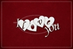 I ♥♥♥♥ You napis z serduszkami zestaw