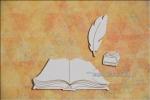Księga, pióro, kałamarz - zestaw 3 el.