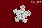 2-warstwowa śnieżka - Idea d'oro - 2-layers snowflake