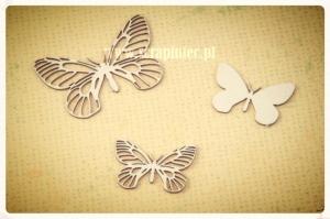 Motylki ażurowe 01 zestaw