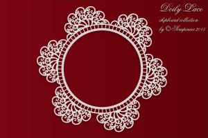 Doily Lace - Round Doily - Okrągła serwetka