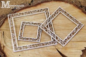 Monograce - 2 layer Square frames 3 pcs - dwuwarstwowe ramki kwadratowe 3 szt (1)