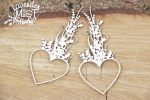 Lavender Mist - hearts - serca