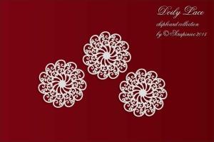 Doily Lace - 3 Small rosettes - 3 Małe rozetki