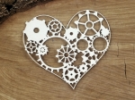 Steampunk - Flying hearts - gear heart