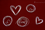 Brush art elements - love doodles