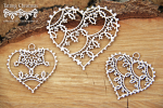 Tatting christmas - small hearts - małe serca