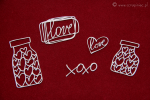 Brush art elements - jar of hearts