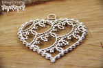 Tatting christmas - big hearts 3D - duże serca 3D