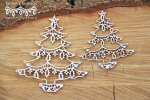 Tatting christmas - christmas trees - choinki