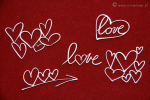 Brush art elements - hearts