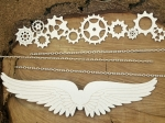 Steampunk - Flying hearts - XL elements