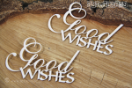 Good Wishes - napis 2 szt